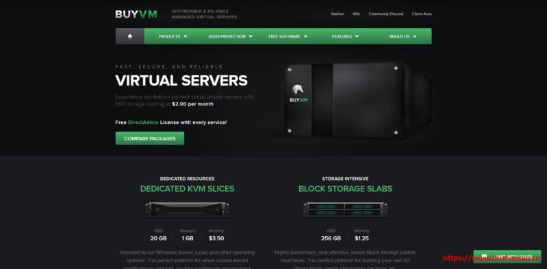 #便宜#Buyvm:1核AMD/512M/10G SSD/1Gbps不限流量/月付$2,送DA面板,KVM架构-国外主机测评